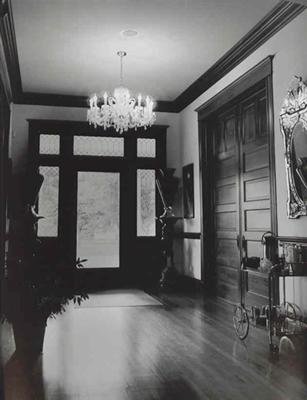 Interior of the Isaac Harris House
